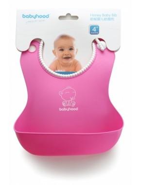 Babyhood - силиконовый нагрудник для кормления, розовый (BH-401P)