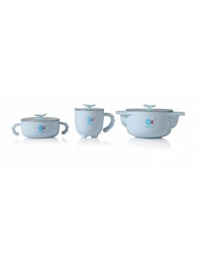 Babyhood - набор детской посуды 5 в 1, голубой (BH-404B)