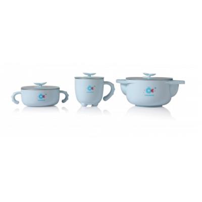 Набор Babyhood детской посуды 5 в 1, голубой (BH-404B)